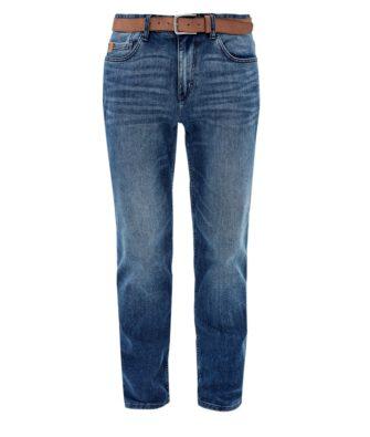 S.Oliver TubX Straight Cut Jeans mit Gürtel