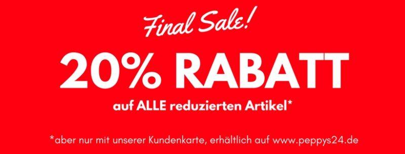 Final Sale...20% Rabatt auf alle reduzierten Artikel*