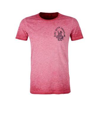 S.Oliver T-Shirt in kernigem Melange Flammgarn