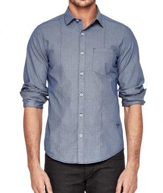 S.OLIVER Slim Fit Hemd mit Minimal Print