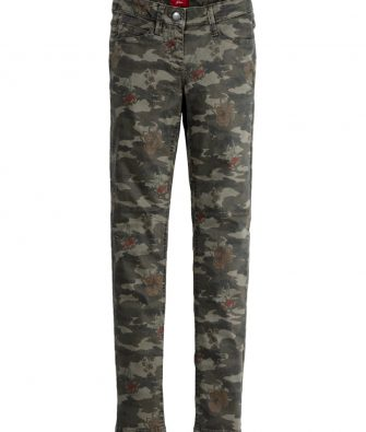 S.OLIVER Skinny Hose mit Camouflage Print
