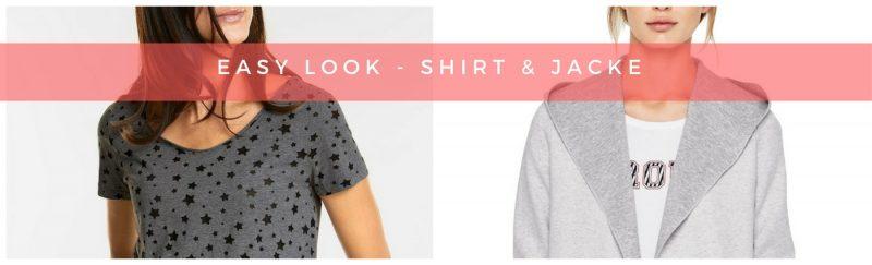 Shirt + Sweatjacke + Jogjeans = Easy Look