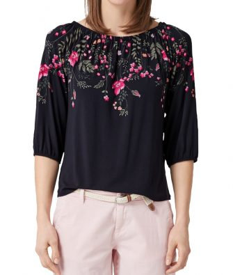Off-Shoulder Shirt mit Flowerprint von S.OLIVER