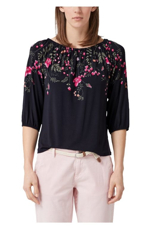 Off-Shoulder Shirt mit Flowerprint von S.OLIVER