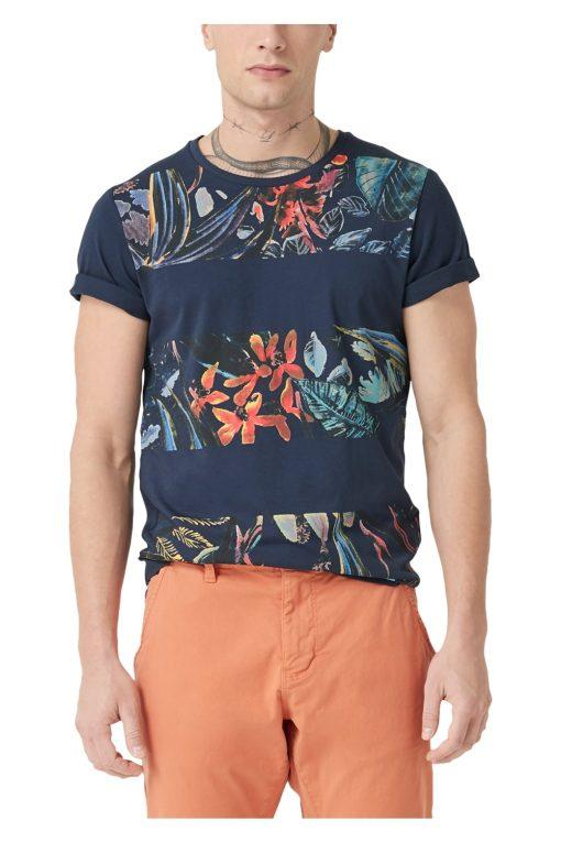 T-Shirt mit floralem Print von S.OLIVER