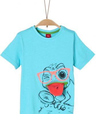 T-Shirt mit Print und Zippertasche von S.OLIVER