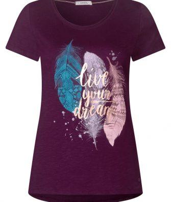 T-Shirt mit Federprint von CECIL