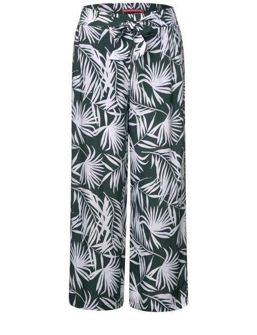 Luftige Hose mit Palmenprint von STREET ONE