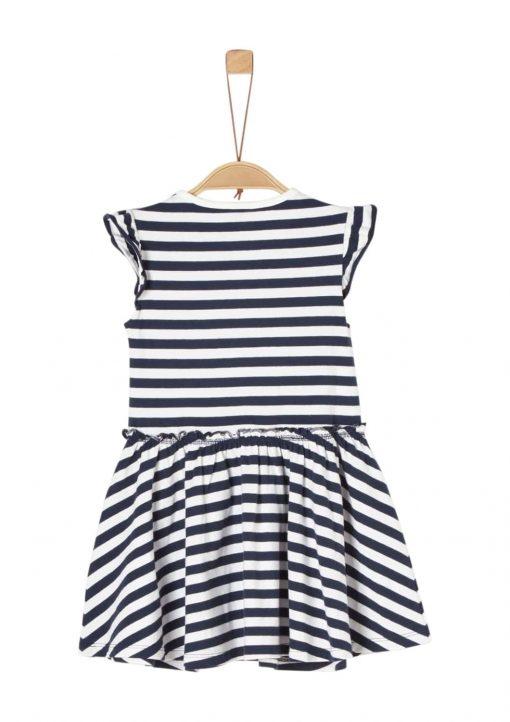 Jerseykleid mit Streifen und Wendepailletten von S.OLIVER