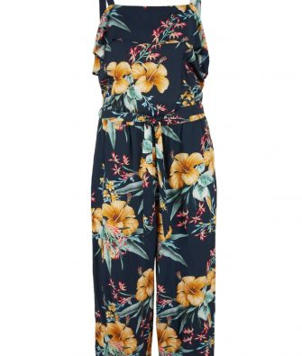 Off Shoulder Jumpsuit mit Allover Print