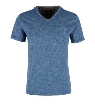 V-Neck Shirt mit Streifenstruktur von S.OLIVER