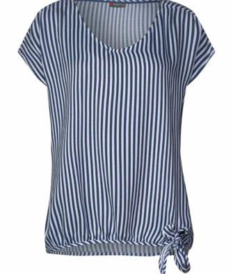 Bluse mit Streifen und Knotendetail von STREET ONE