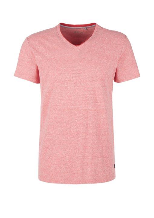 Meliertes T-Shirt mit V-Ausschnitt von S.OLIVER
