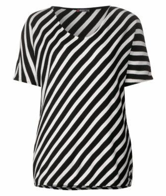 Shirt mit Diagonalstreifen von STREET ONE