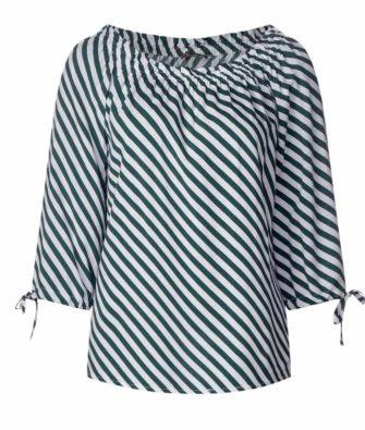 Carmen-Bluse mit Diagonalprint von STREET ONE