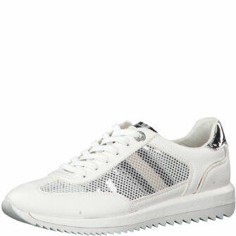 Sneaker mit Mesh- und Silberdetails
