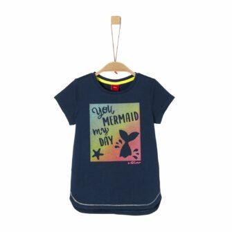 Mermaid Shirt mit gummierten Print