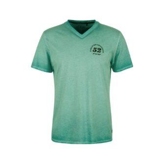 V-Neck T-Shirt in Vintage Optik