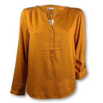 Kragenlose Bluse mit V-Ausschnitt