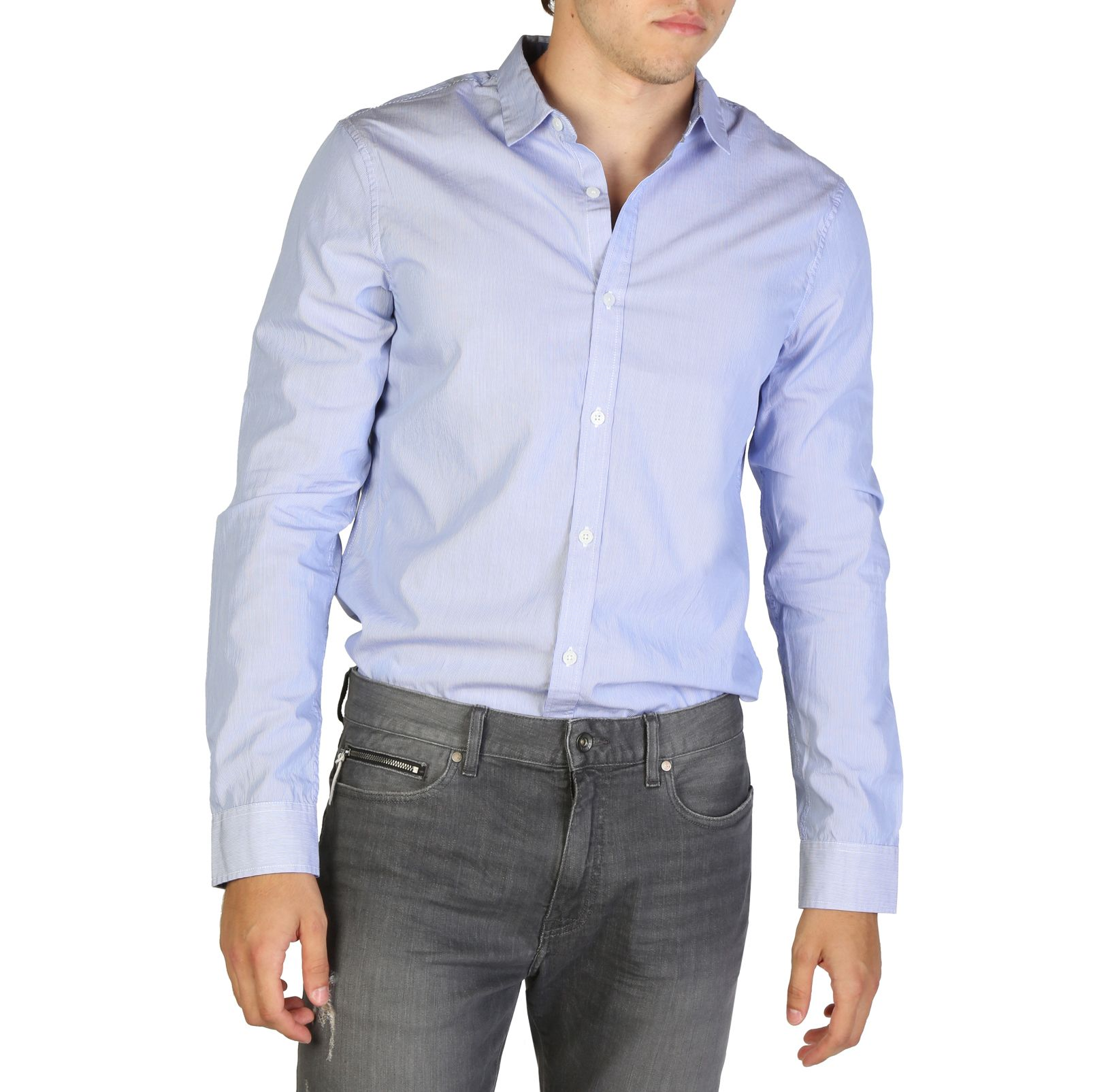 Armani Exchange Slim Fit Hemd - 8NZC61ZNAPZ - Blau