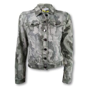 Jeansjacke im Camouflage Style