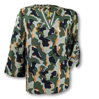Camouflage Bluse mit Turn-Up von STREET ONE