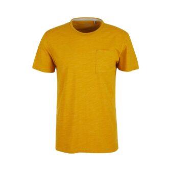 Melange T-Shirt mit Brusttasche