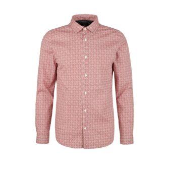 Slim Fit Hemd mit Allover Print