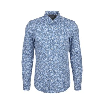 Slim Fit Hemd mit modischem Print und Comfort Stretch