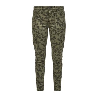 Ankle Slim Cargo mit Camouflage Print