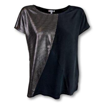 T-Shirt im Metallic Look von STREET ONE