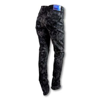 Jeans York mit schimmerndem Coating