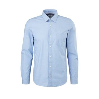 Klassisches Slim Fit Hemd aus Baumwollstretch