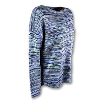 Feinstrick Pullover im Multicolour Style