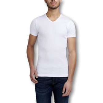 GARAGE Semi Body Fit T-Shirt mit V-Ausschnitt