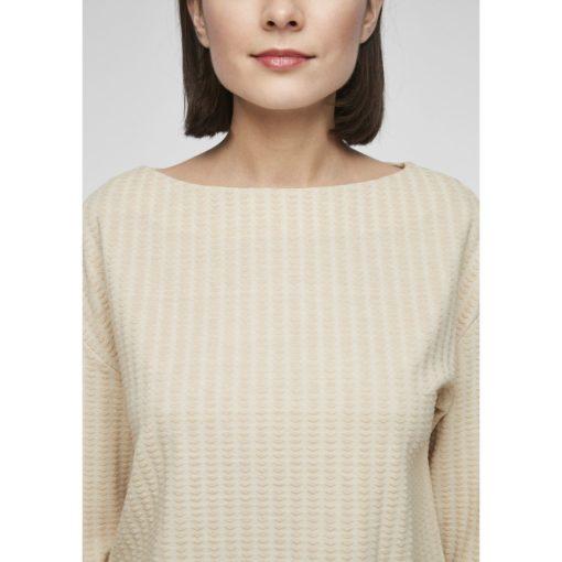 Feminines Sweatshirt mit U-Boot-Ausschnitt