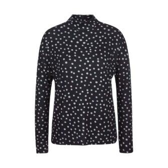 Flauschiges Turtleneck Shirt mit Punkten