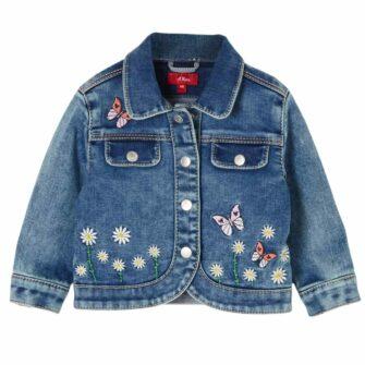 Baby Jeansjacke mit Stickerei