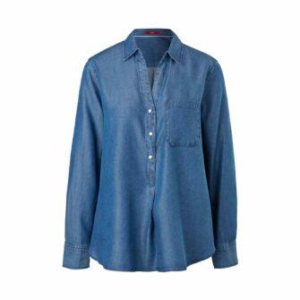 Leichte Bluse aus Lyocell Denim