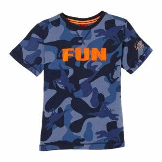 Kids T-Shirt mit Camouflage Print