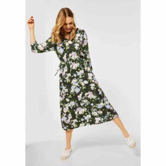 CECIL Midi Kleid mit Blumen Print