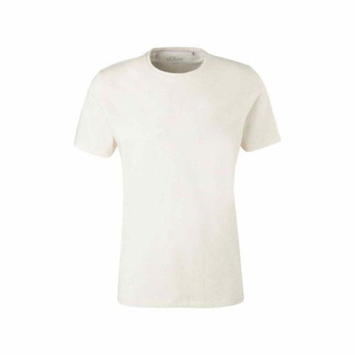 O-Neck Shirt im Leinenmix