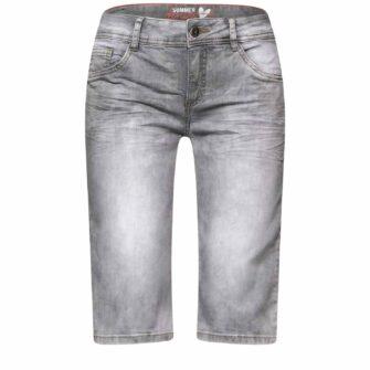 Jeans Bermuda in Grey Denim