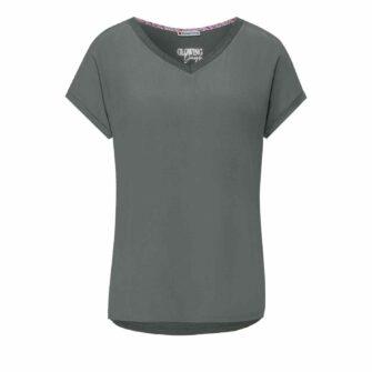 Seidig fallendes T-Shirt aus weichem Cupro