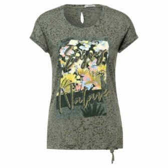 CECIL T-Shirt mit Print und Schmuckapplikation