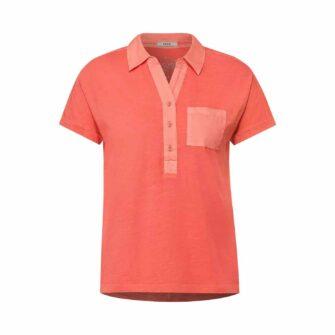 CECIL Poloshirt mit Knopfleiste in frischen Farben