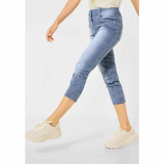 Hellblaue Loose Fit Denim von CECIL in Laenge 26 Inch
