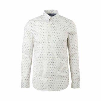 Slim Fit Hemd aus weichem Baumwoll-Stretch