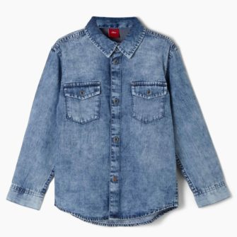 Cooles Jeanshemd im Used Look