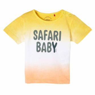 Baby T-Shirt mit Colorblocking